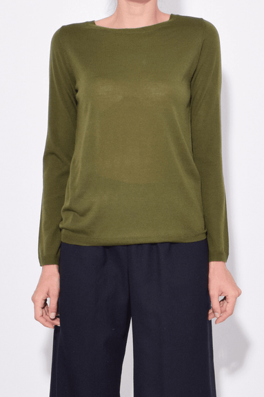 Lightweight Sweater in Olive