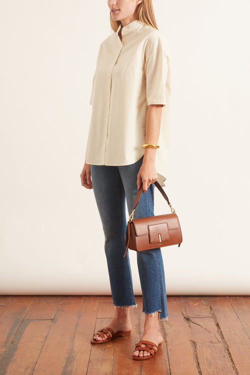 Short Sleeve Top in Cream