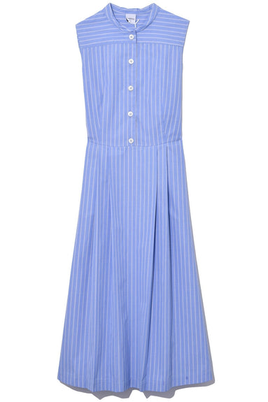 Sleeveless Cotton Poplin Dress in Stripe