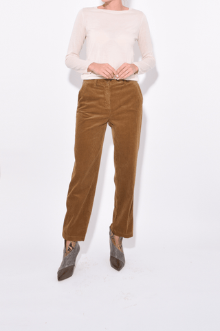 Straight Leg Pant in Biscotto