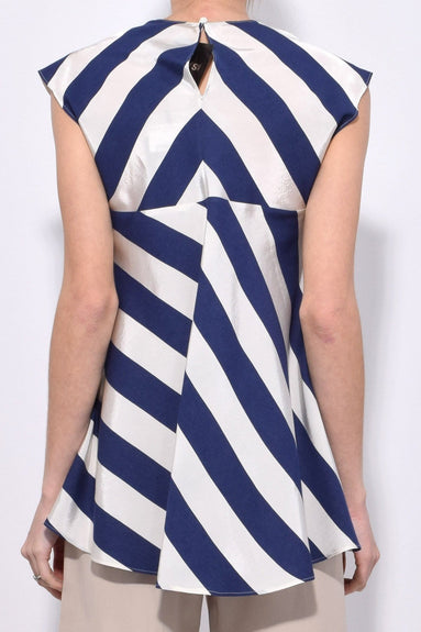 Stripe Top in Bianco