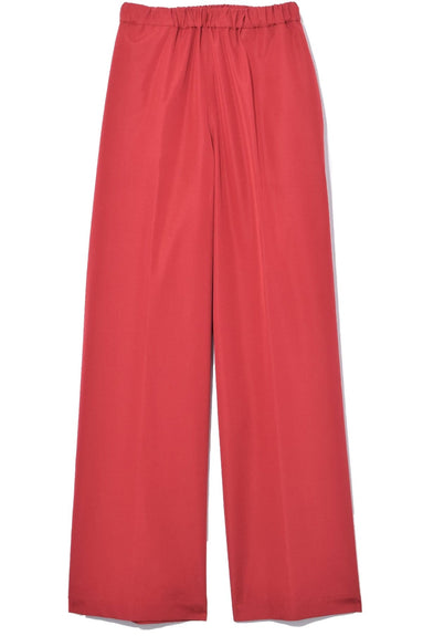 Wide Leg Cropped Pant in Red