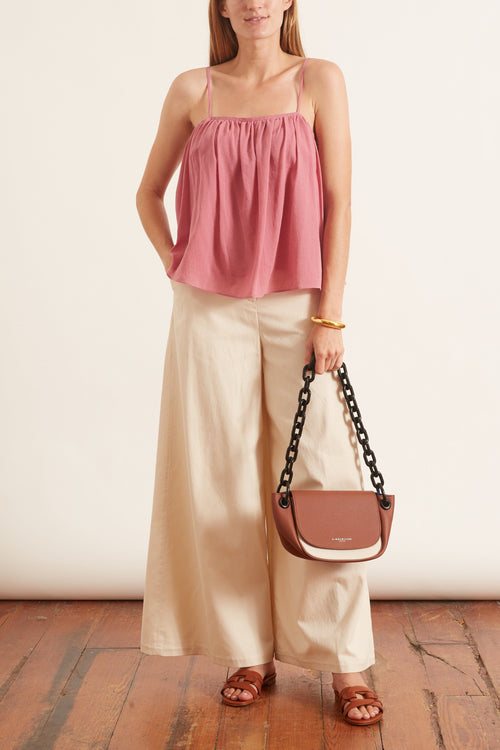 Wide Leg Pant in Cream