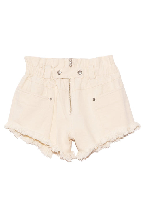 Phillipa Denim Shorts in Cream