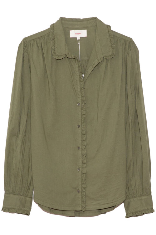Hale Shirt in Olive Palm