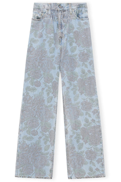 Levi's Printed Jeans in Light Indigo