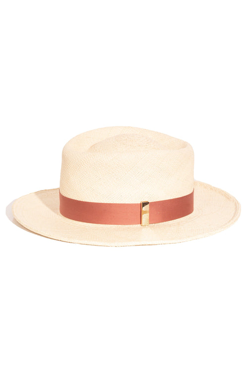 Merle Hat in Natural/Terracotta
