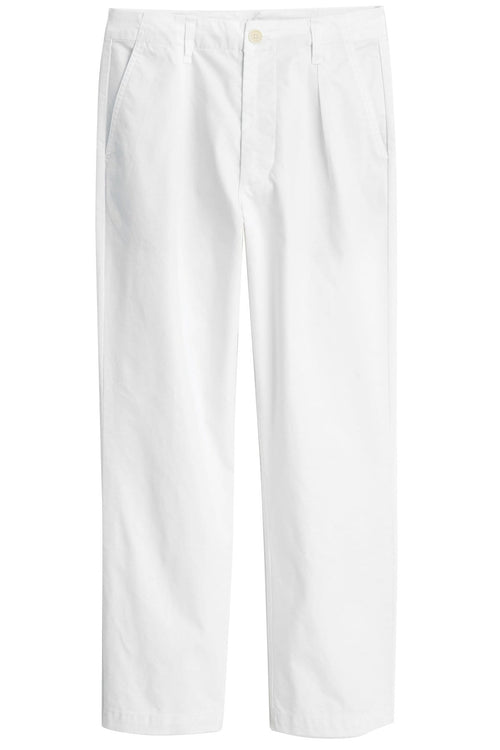 Garment-Dyed Cotton Twill Boy Pant in Natural