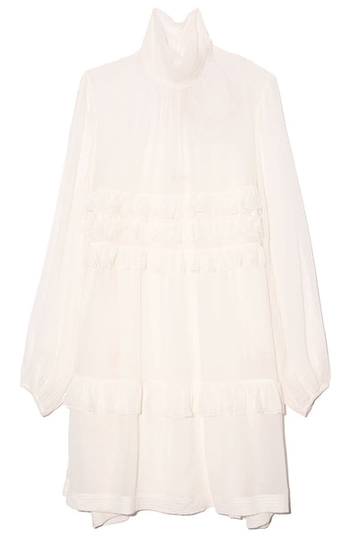 Tiered Ruffle Dress in Cream