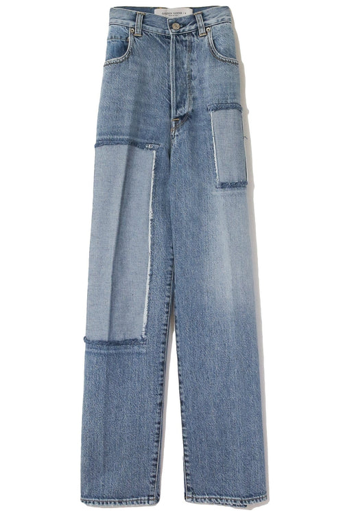 Kim Pant in Light Blue Wash/Patch