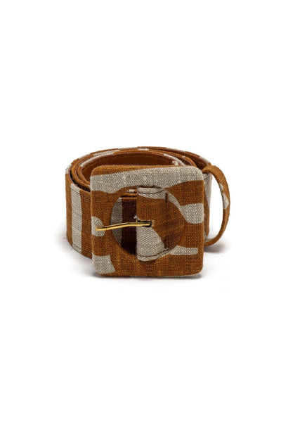 Agnes Belt in Bronze Zebra