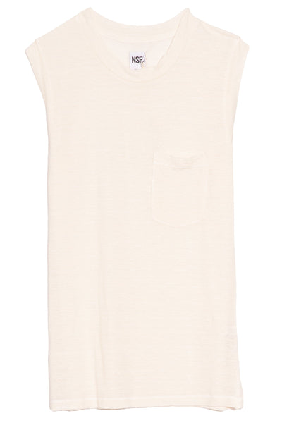 Claire Muscle Tee in White