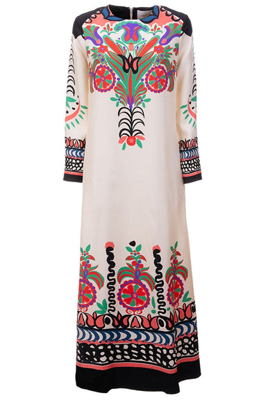 Long Sleeve Swing Dress in Calata