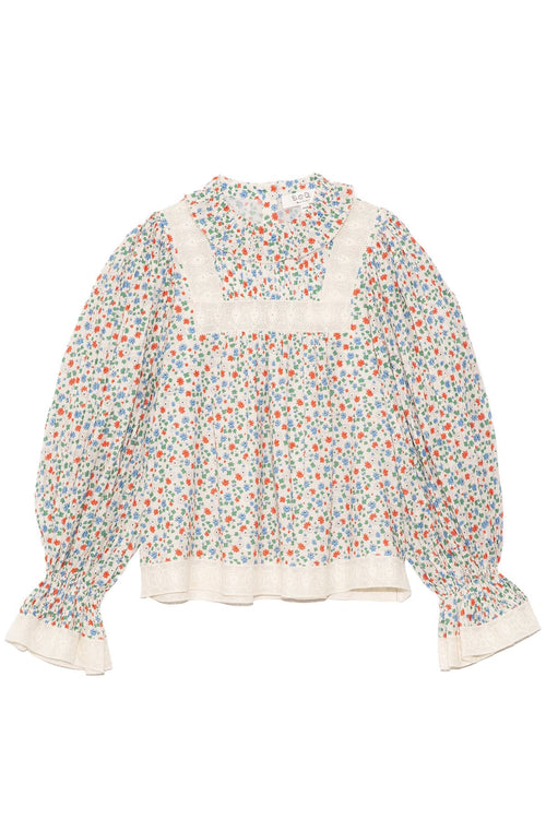 Bubbie Ditsy Long Sleeve Top in Multi