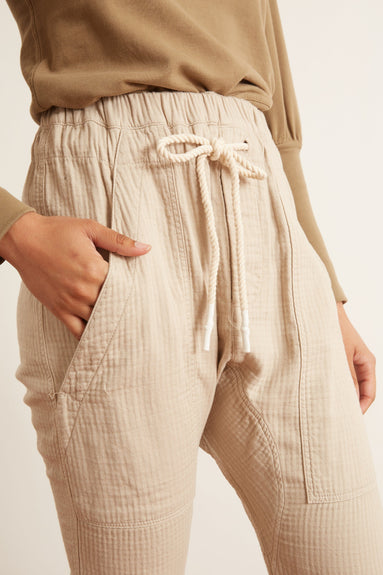 Herringbone Utility Relaxed Pant in Tan