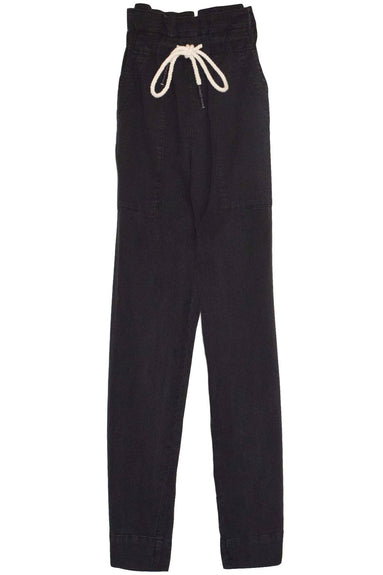 Dobby Cord Utility Pant in Washed Black