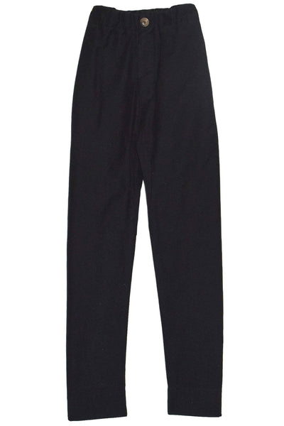 Washed Cotton Relaxed Pant in Black