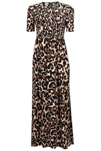 Adamaris Dress in Wild Leopard