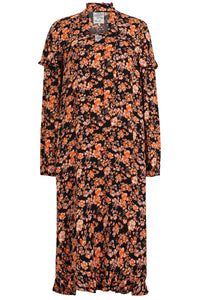 Ani Dress in Peachblack Floral
