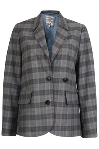 Beverley Jacket in Grey Check