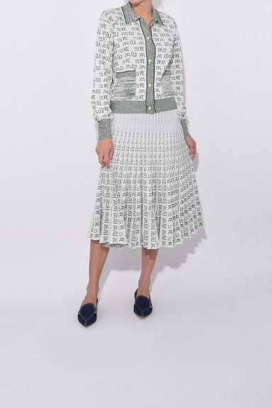Cyrilla Skirt in Cream Green Love