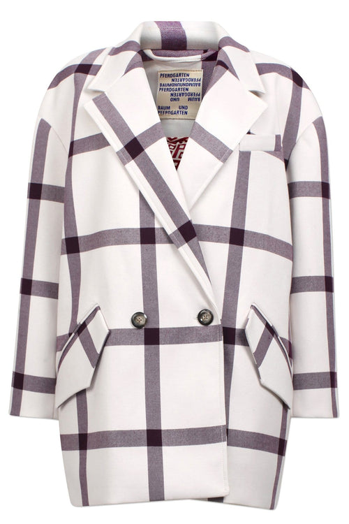 Dorita Jacket in Creamy Wine Check