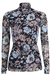 Jodi Top in Blue Navy Floral