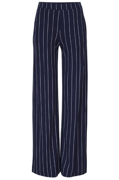 Justine Pant in Navy Cream Pinstripe