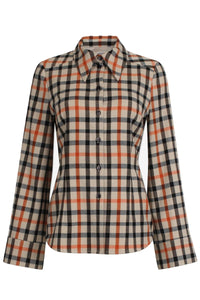 Margrethe Shirt in Camel Flannel Check
