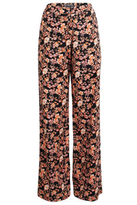 Natia Pant in Peachblack Floral