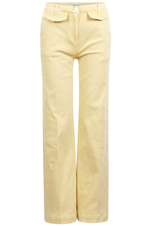 Nia Pant in Straw Yellow