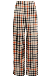 Nyo Pant in Camel Flannel Check