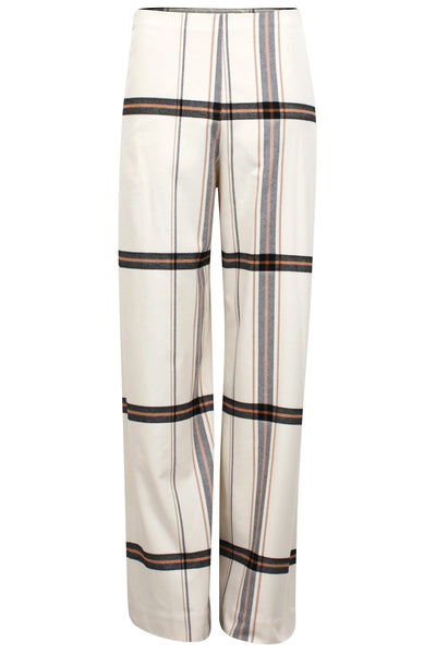 Nyo Pant in Off White Check