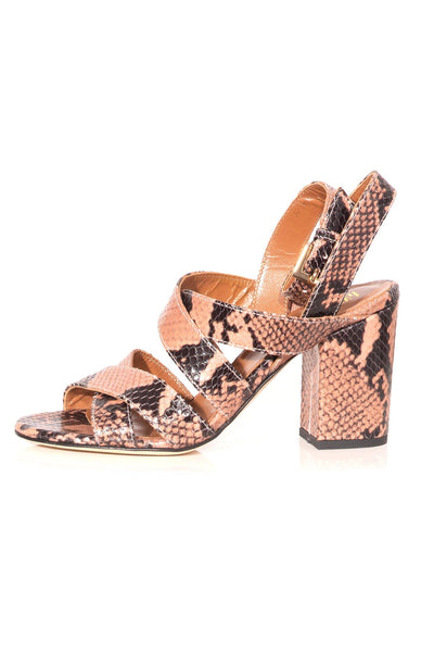 Python Print Strappy Sandals in Phard