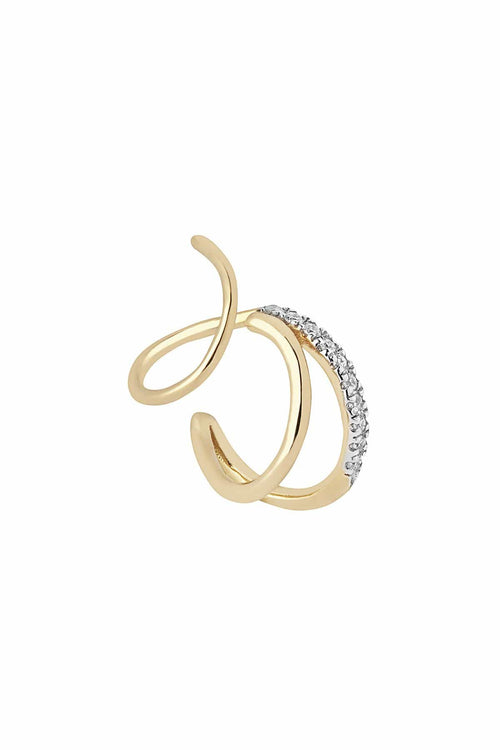 Fury Twirl Earring in Yellow Gold (Left)