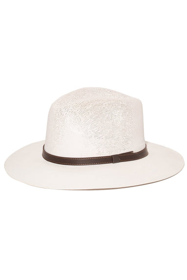 Natural Panama Hat with Chocolate Band