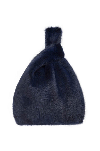 Furrissima Mink Bag in Royal Blue