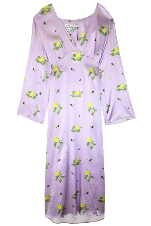 Sarah Dress in Little Flower Yellow/Lilac