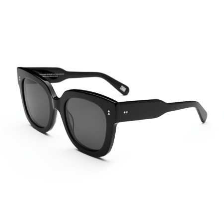 #008 Black Sunglasses in Berry