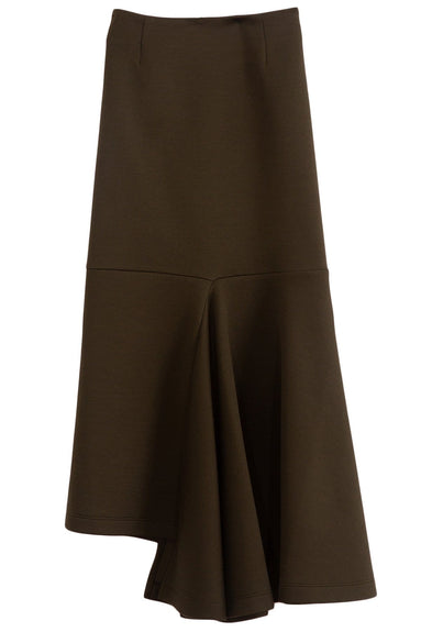 Double Face Jersey Skirt in Dark Olive