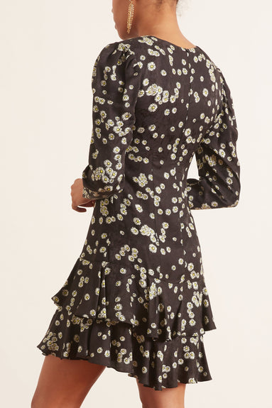 Nancy Dress in Black Daisy
