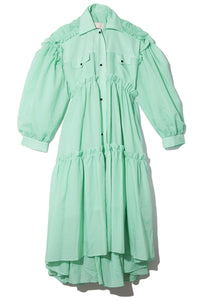 Margot Coat Dress in Mint
