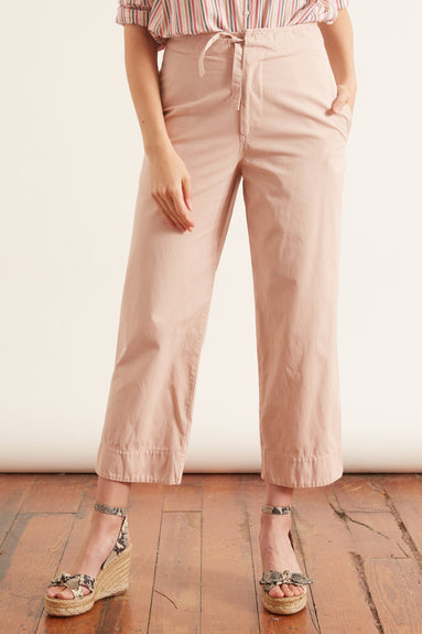 Canvas Bind Detail Pant in Blush