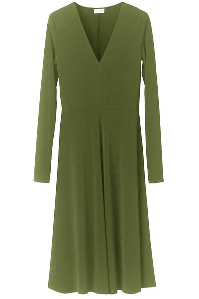 Bellucia Dress in Winter Moss