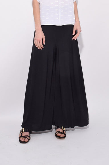 Satin Pant in Black