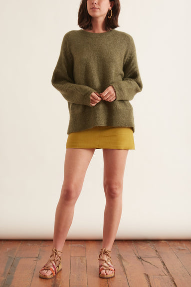 Ana Sweater in Winter Moss