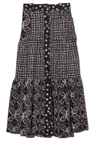 Graham Skirt in Noir Batik