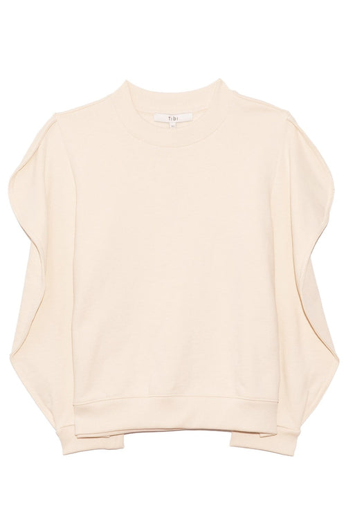 Scallop Sweatshirt in Ivory