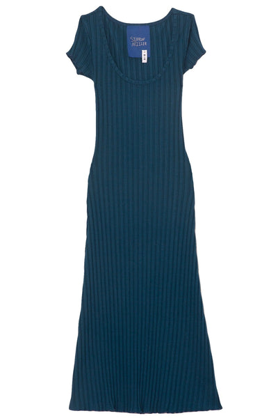 Andros Scoop Neck Dress in True Teal