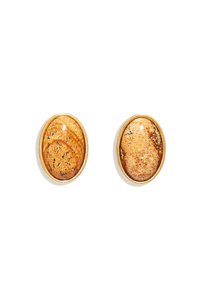 Adelaide Stud Earring in Jasper Light Brown